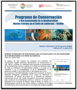 Boletin informativo BioMar - abril 2015
